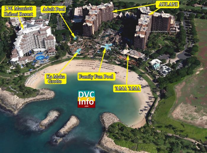 Aulani A Disney Resort & Spa Satellite View