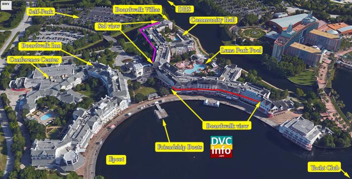 Disney's BoardWalk Villas Satellite Map
