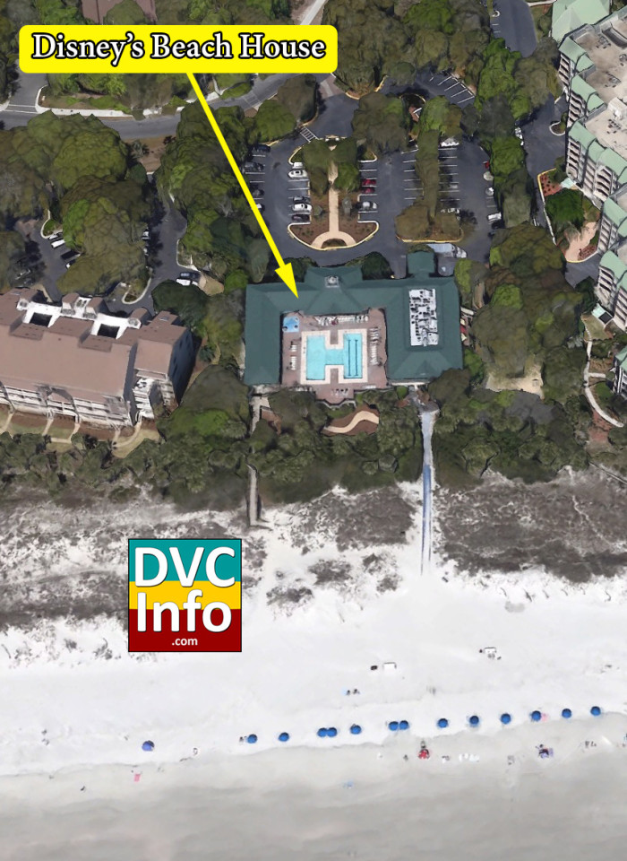 Satellite View of Disney's Beach House