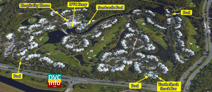 Satellite View of Disney's Old Key West Resort