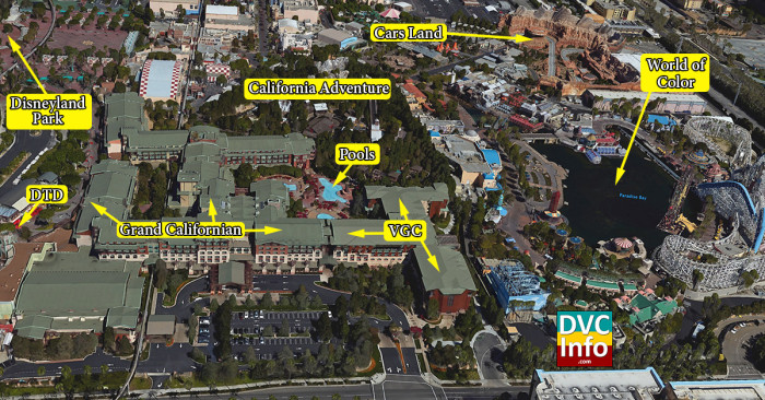 Satellite View of The Villas at Disney's Grand Californian Hotel & Spa