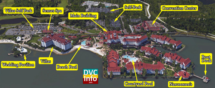 Satellite View of The Villas at Disney's Grand Floridian Resort & Spa
