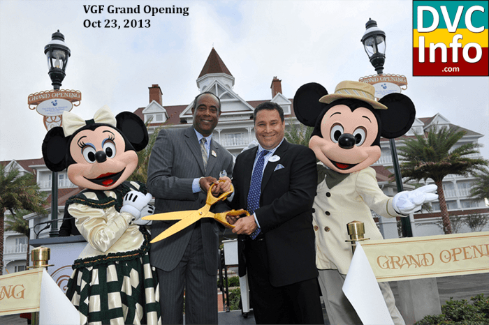 Villas at the Grand Floridian grand opening ceremony
