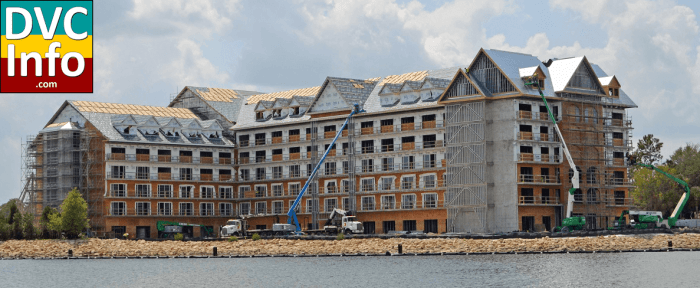 Villas at the Grand Floridian under construction