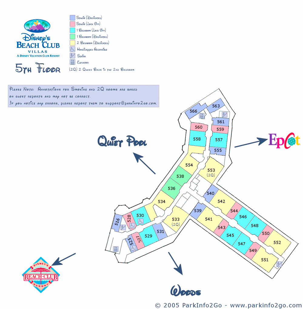 ParkInfo2Go Maps of Beach Club Villas - DVCinfo on