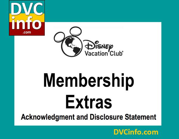 DVC Membership Extras