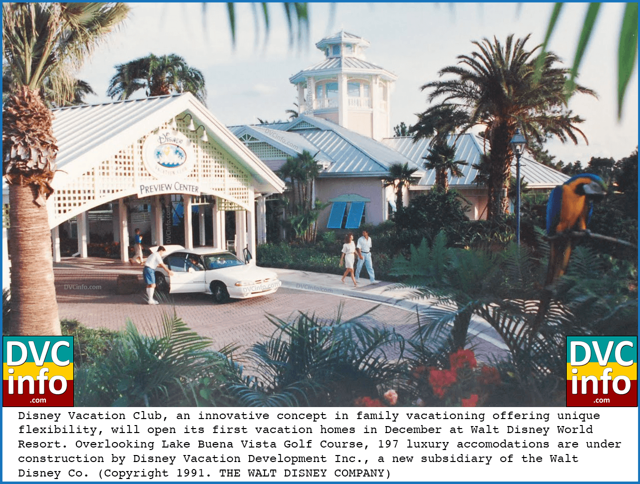 094db28ef 1991 Press Release announcing the upcoming opening of the Disney Vacation  Club resort (click for larger image)