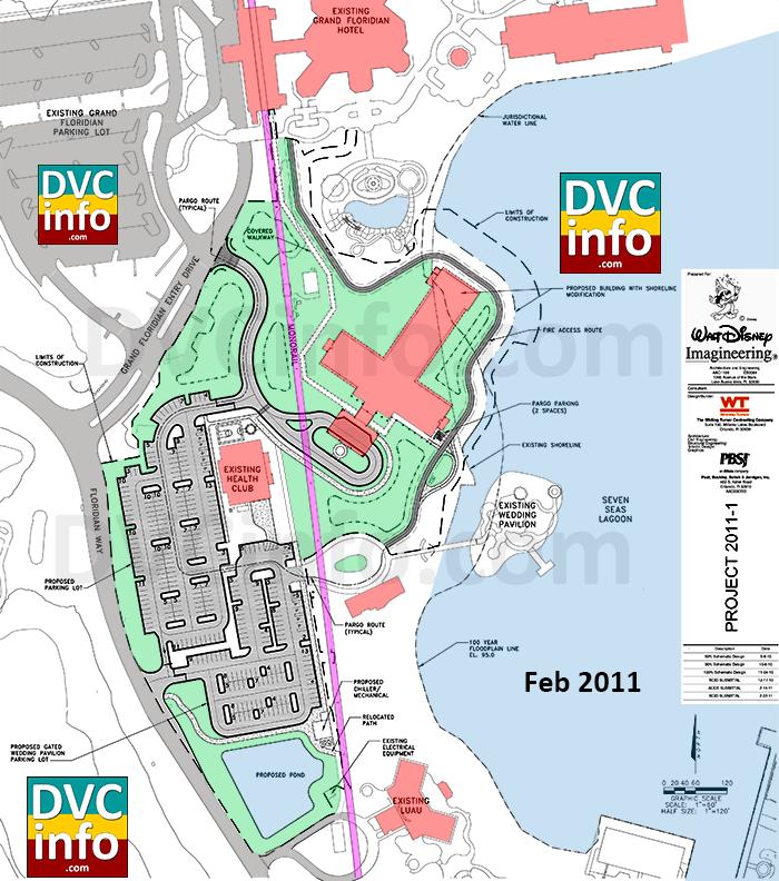 Villas at the Grand Floridian Feb 2011 Site Plan
