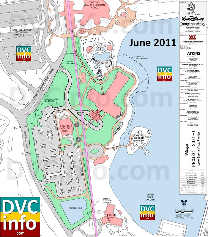 Villas at the Grand Floridian June 2011 Site Plan
