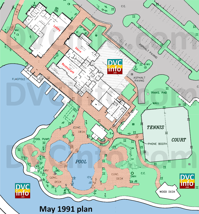 May 1991 Disney Vacation Club plan clubhouse