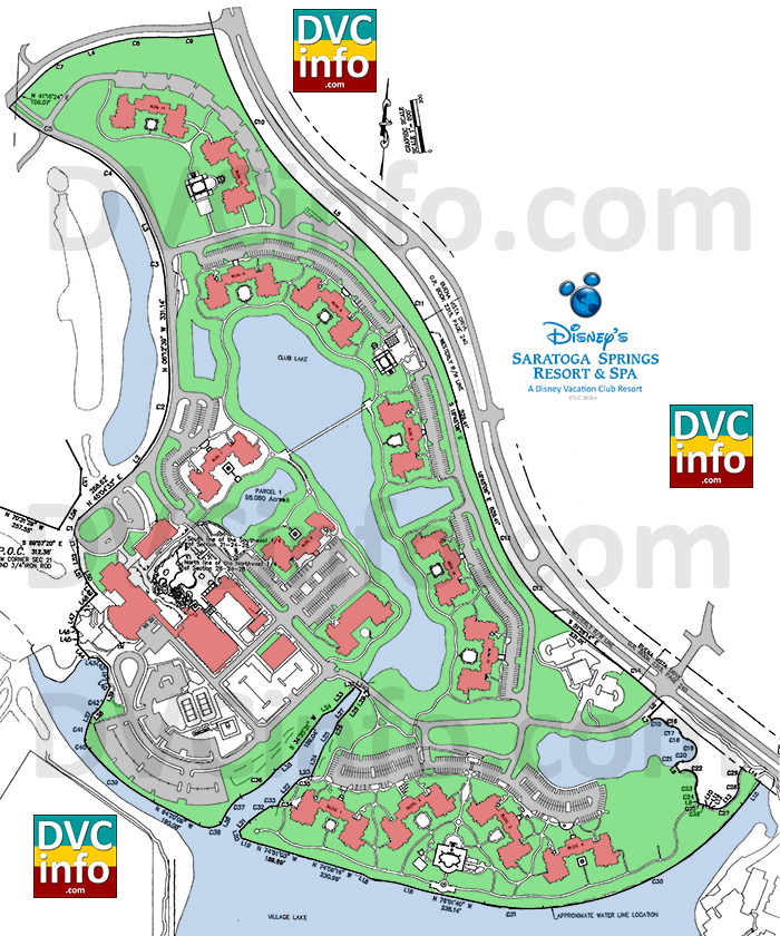 Disney's Saratoga Springs Resort site plan