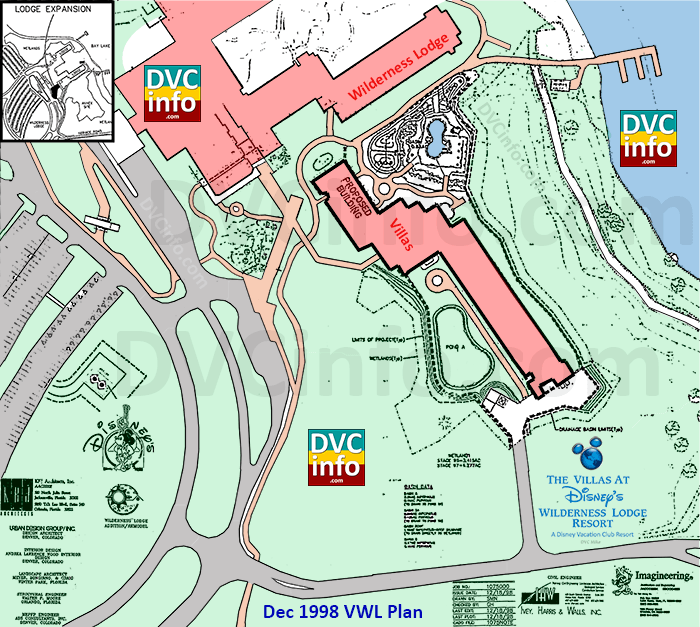Villas at the Wilderness Lodge site plan 1998