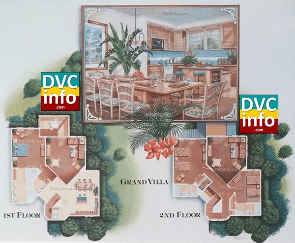 1991 Disney Vacation Club resort 3-BR layout