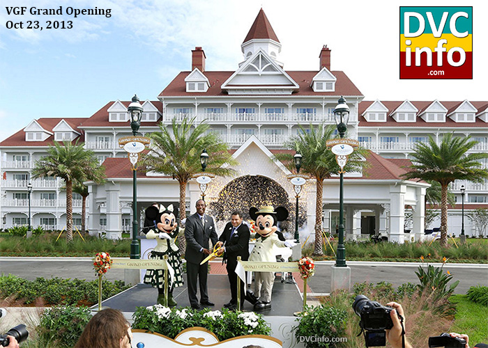 Villas at the Grand Floridian grand opening