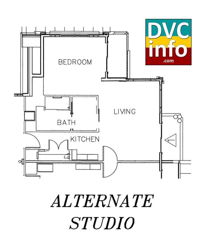 Copper Creek Villas - Alternate Studio floor plan