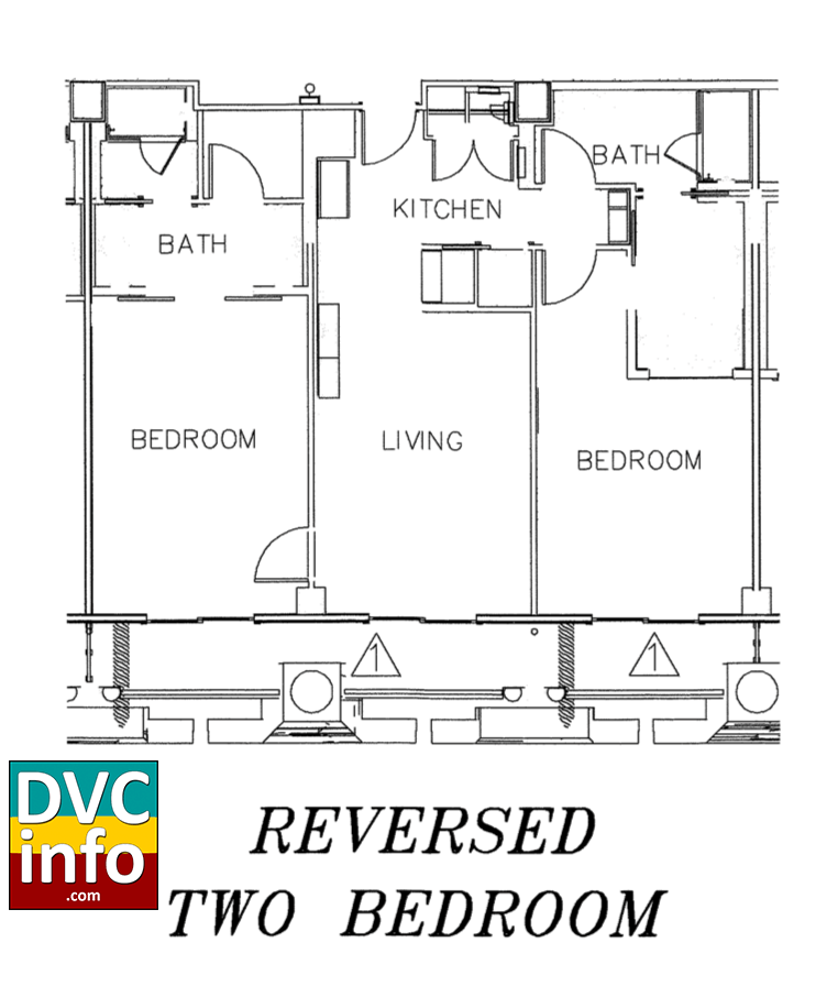 Copper Creek Villas - 2-bedroom floor plan
