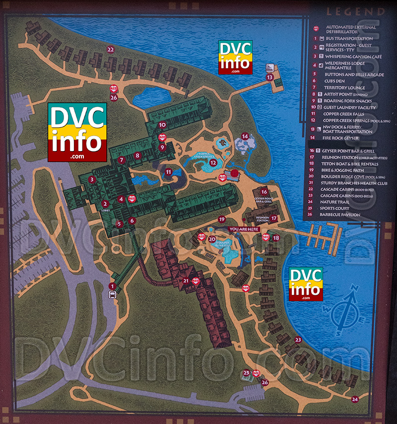 New Wilderness Lodge Resort Map