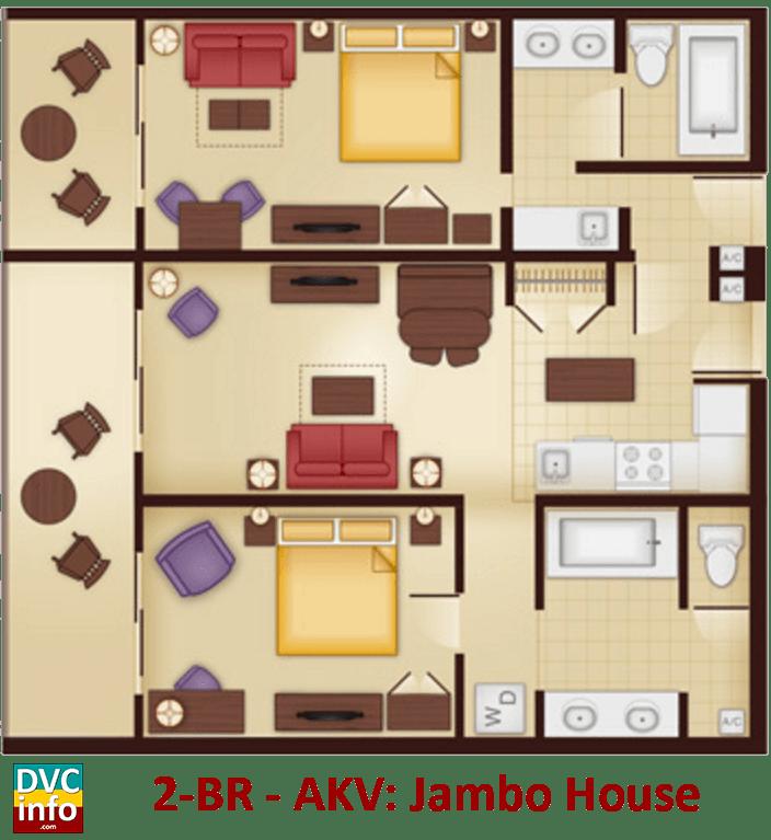 2-bedroom floor plan - AKV Jambo House