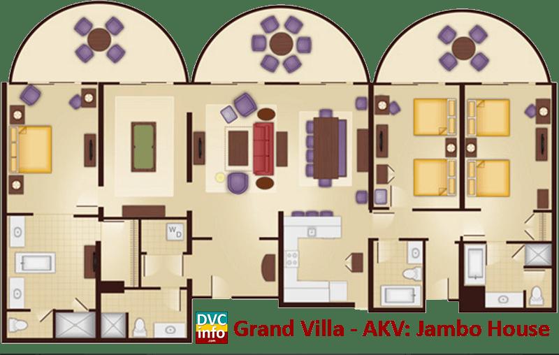 Grand Villa floor plan - AKV Jambo House