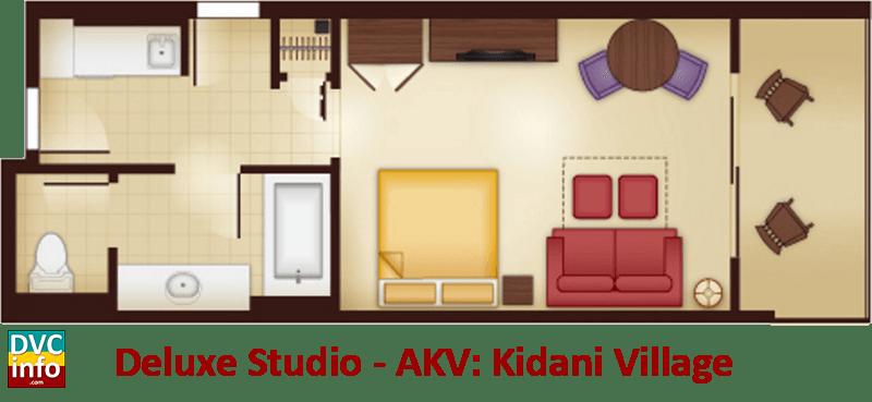 Studio floor plan - AKV Kidani Village