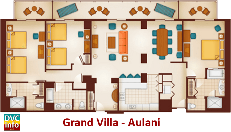 Grand Villa floor plan - Aulani