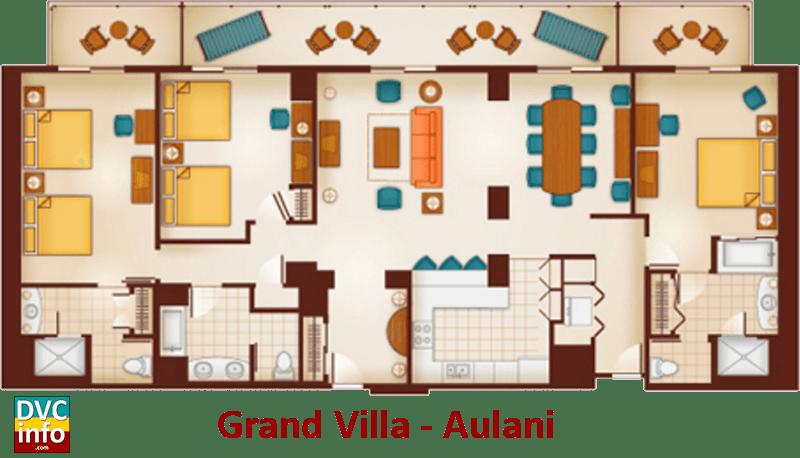 Aulani One Bedroom Villa Layout