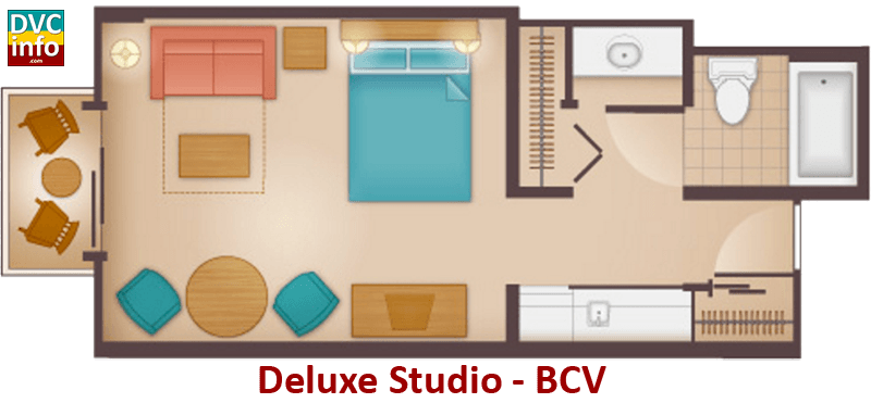 Studio floor plan - Beach Club Villas