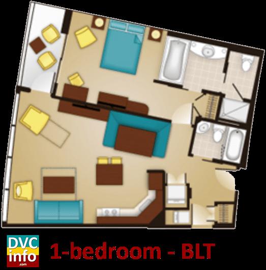 1 Bedroom Floor Plan   Bay Lake Tower