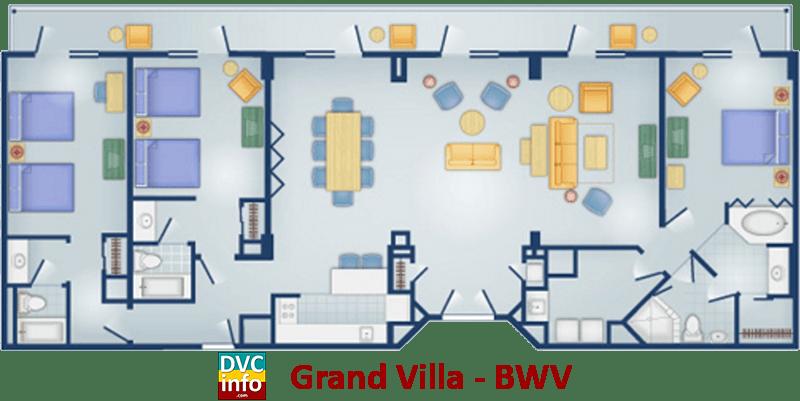 Grand Villa floor plan - BoardWalk Villas