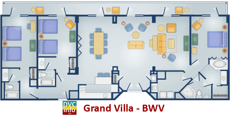 Grand Villa floor plan - BoardWalk Villas