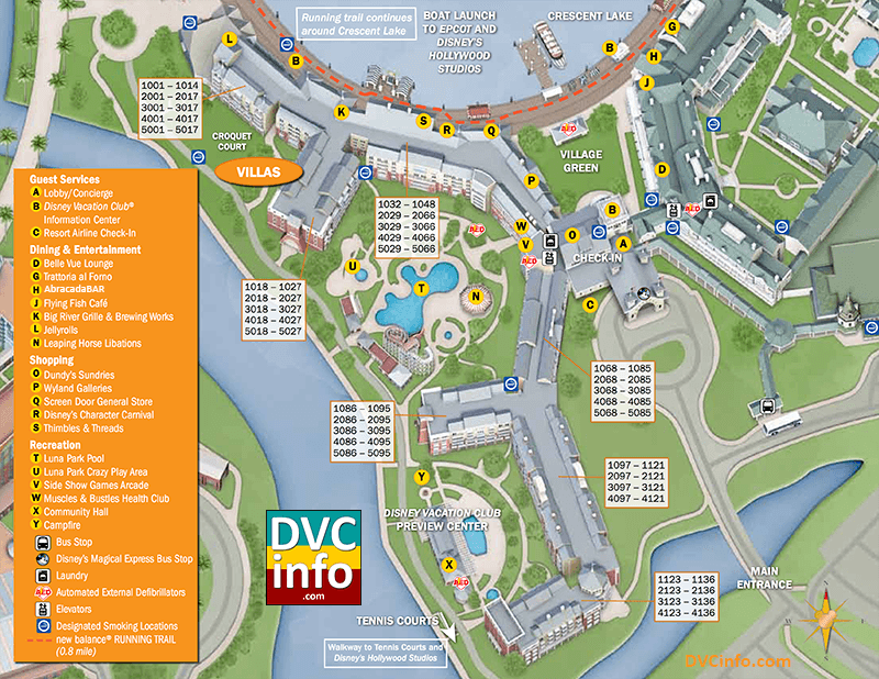 Disney's BoardWalk Villas Resort Map