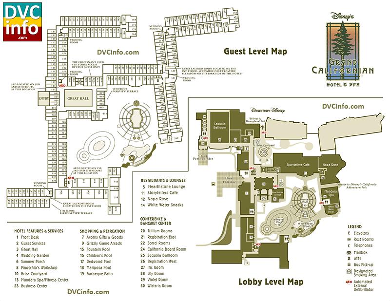Disney's Grand Californian Hotel & Spa Resort Map