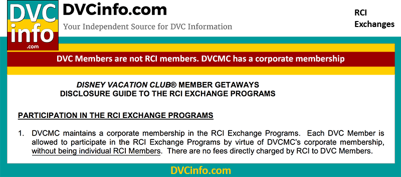 DVC members are not RCI Members