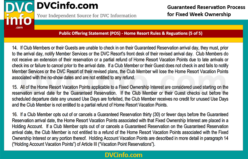 DVC Guaranteed Week Reservation Rules (5 of 5)