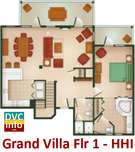 Grand Villa 1st floor plan - Hilton Head Island