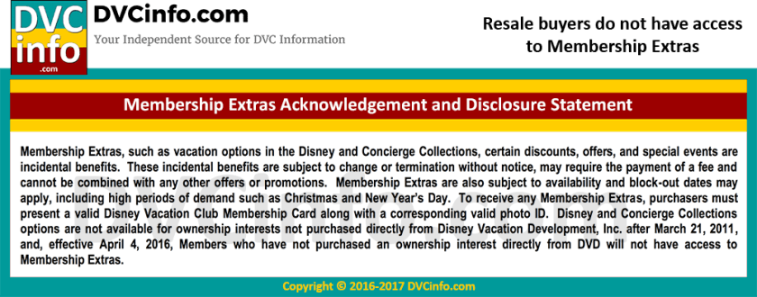 Restrictions on DVC Resale Purchases