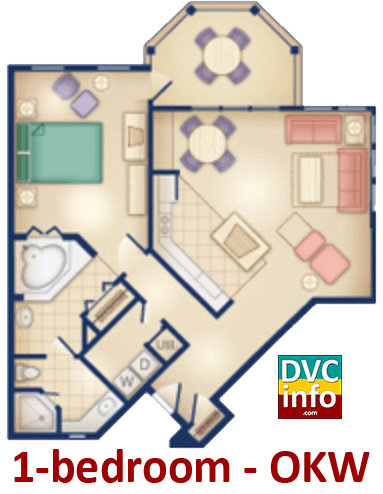 1-bedroom floor plan - Old Key West