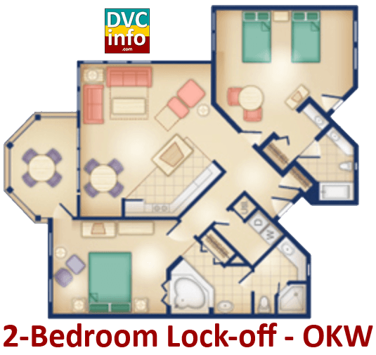 2-bedroom floor plan - Old Key West