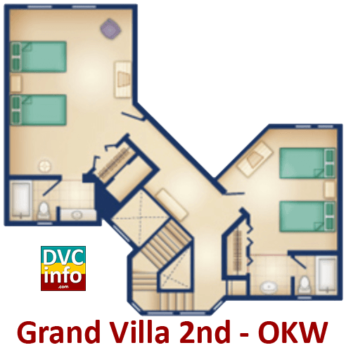 Grand Villa 2nd floor plan - Old Key West