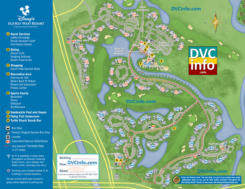 Disney's Old Key West Resort Map