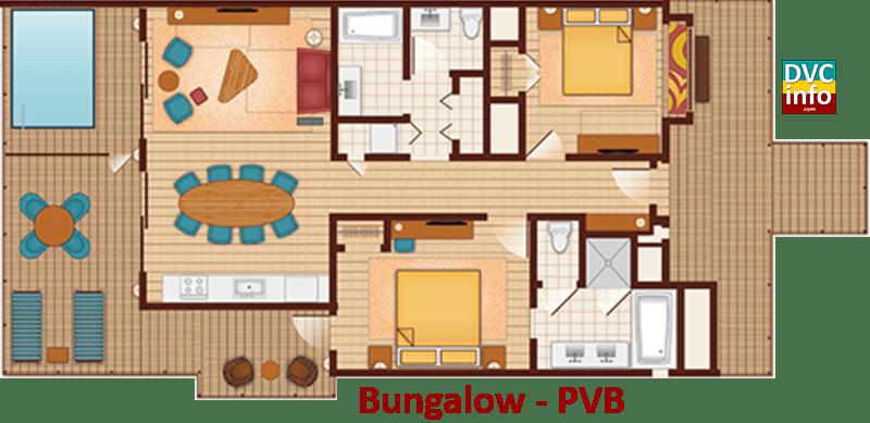 Bungalow floor plan - Polynesian Villas & Bungalows