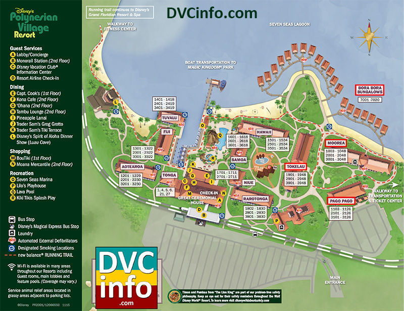 Disney's Polynesian Villas & Bungalows Resort Map
