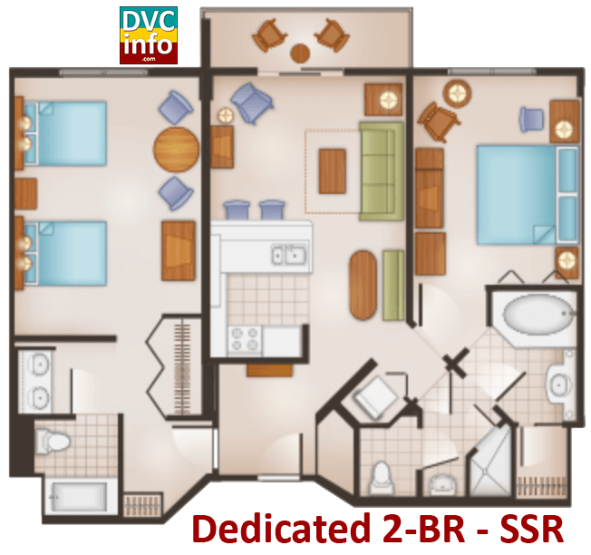 Dedicated 2-BR floor plan - Saratoga Springs Resort