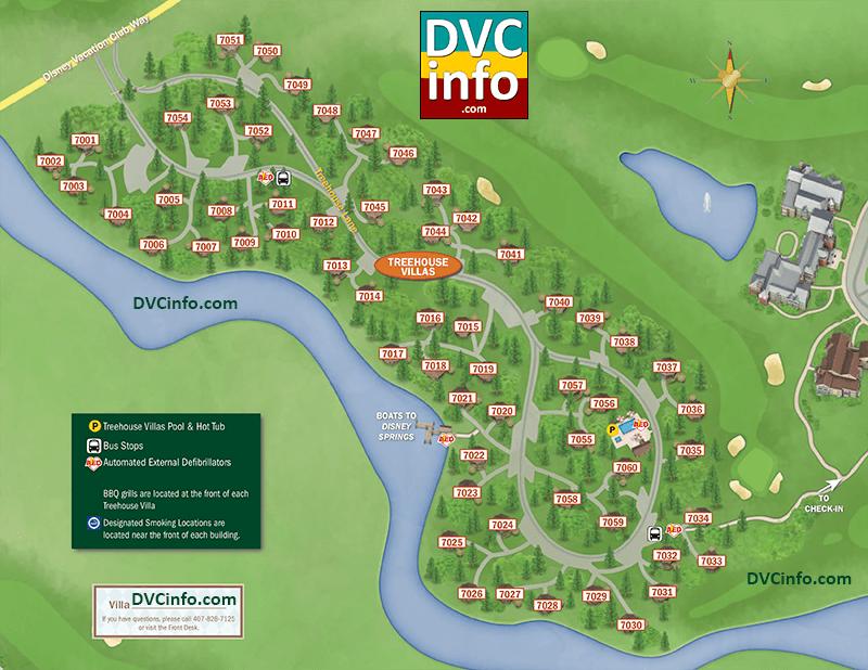 Saratoga Springs Treehouse Villas Resort Map