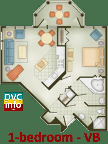 1-bedroom floor plan - Vero Beach Resort