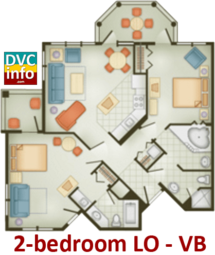 2-bedroom floor plan - Vero Beach Resort
