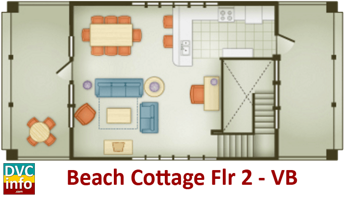 Beach Cottage 2nd floor plan - Vero Beach Resort
