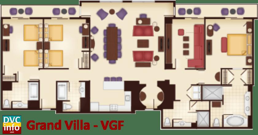 Grand Villa floor plan - Villas at the Grand Floridian