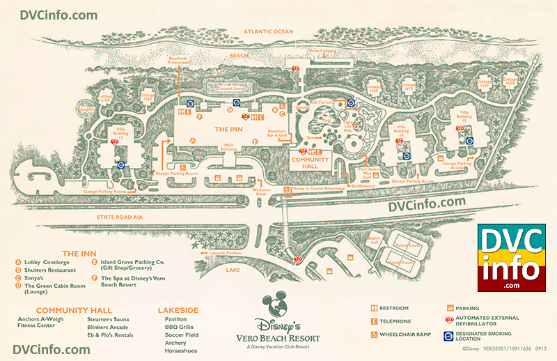 Disney's Vero Beach Resort Resort Map