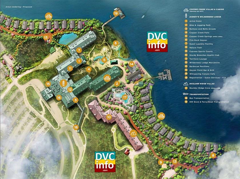 Wilderness Lodge Resort Map